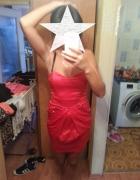 sukienka czerwona ax paris