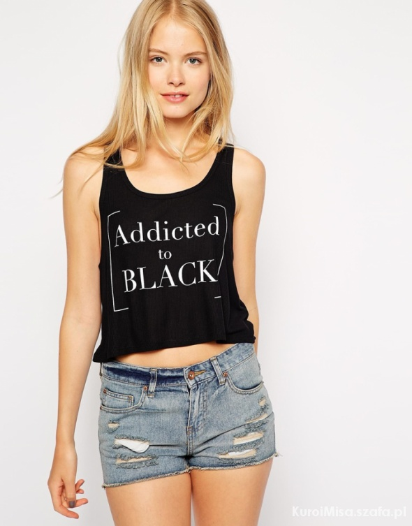 koszulka addicted to black pull&bear...
