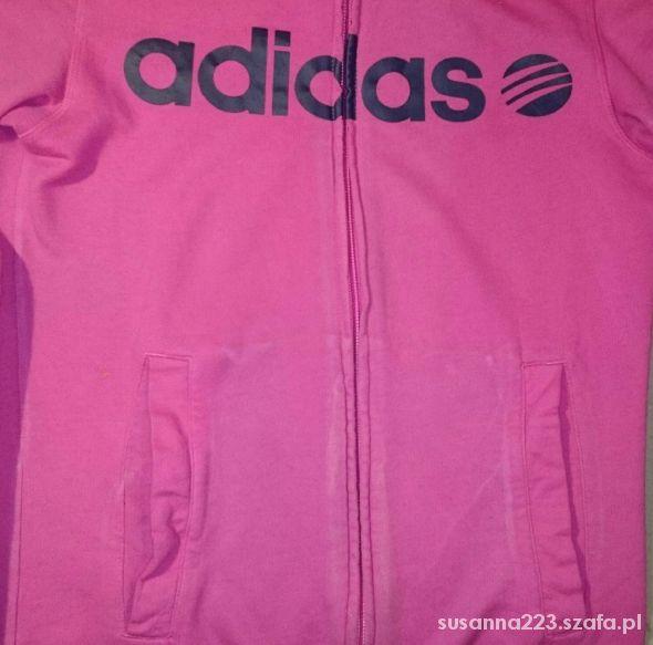 różowa bluza adidas neo bomberka
