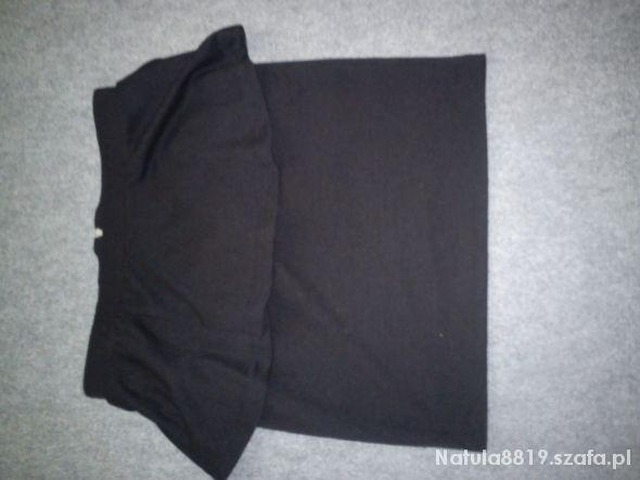 Spódnice czarna spódniczka z baskinką