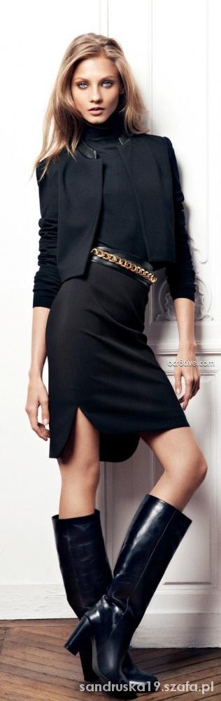 Do pracy all black elegancko stylizacja