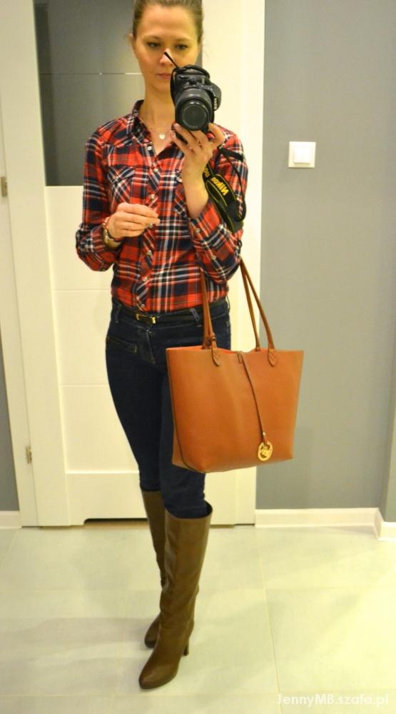 Mój styl red navy blue & brown