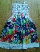 Sukienka tunika kwiaty oversize