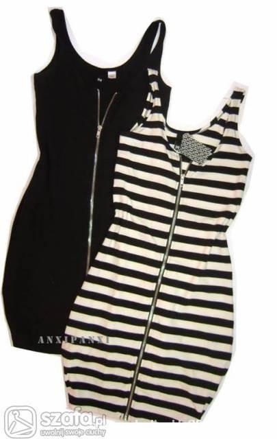 243aa54e4946e1 Sukienka w paski z ekspresem na ramiaczka Hm w Ubrania - Szafa.pl