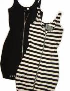 Sukienka w paski z ekspresem na ramiaczka H&m...