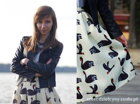 Blogerek Black swan midi skirt