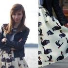 Black swan midi skirt