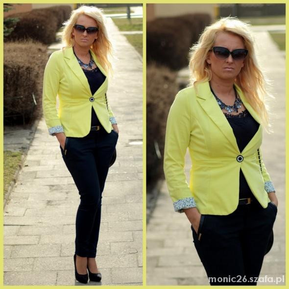Blogerek żółta marynarka