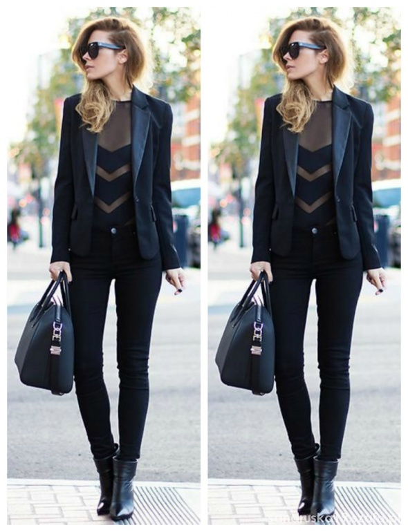 Mój styl all black elegancko inspiracja