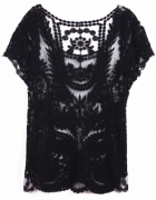 Koronkowa bluzka sheinside