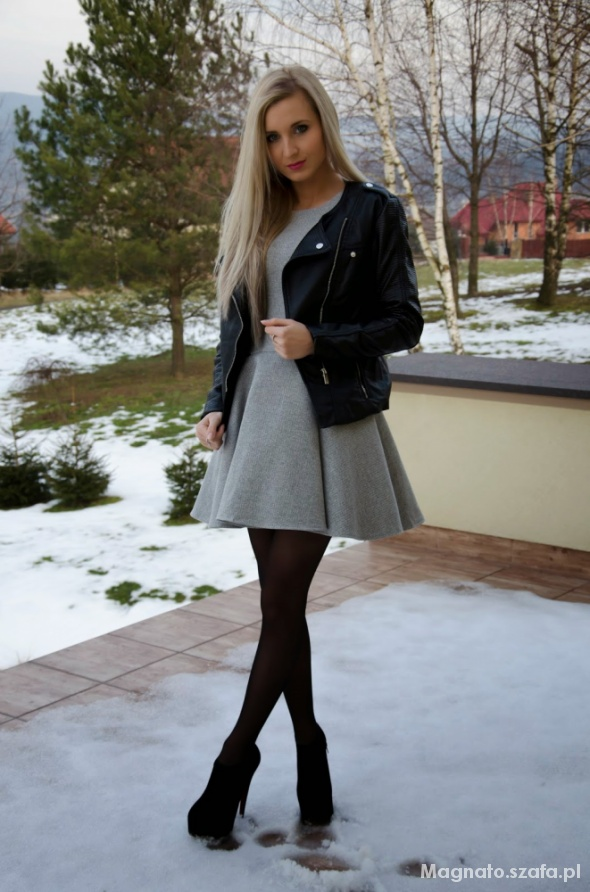 Mój styl grey dress
