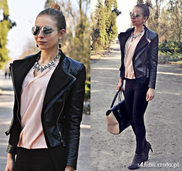 Blogerek Beige asymmetrical bouse