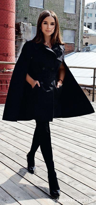 Eleganckie all black elegancko inspiracja
