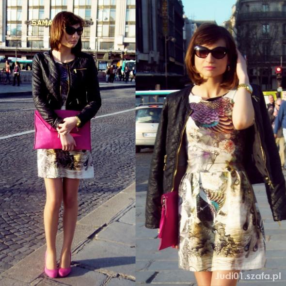 Blogerek Sukienka z printem
