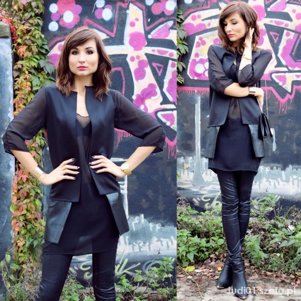 Blogerek Total black look