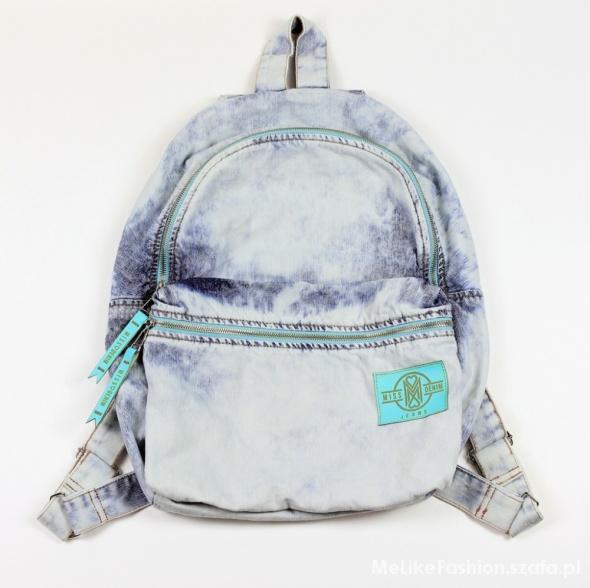 ba99b208dd40b Marmurkowy Plecak Jeansowy w Plecaki - Szafa.pl