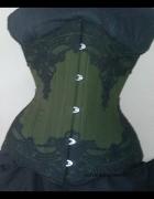 underbust green poetry by ladyardzesz corset