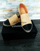 Espadrle Chanel od 34 do 41 3 kolory skóra nat