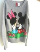 Sweterek Disney mickey i minnie szary H&M divided