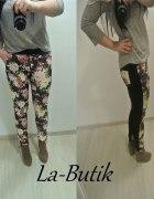 Spodnie kwiaty nowe L