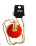 nowy naszyjnik Opia z czerwonym