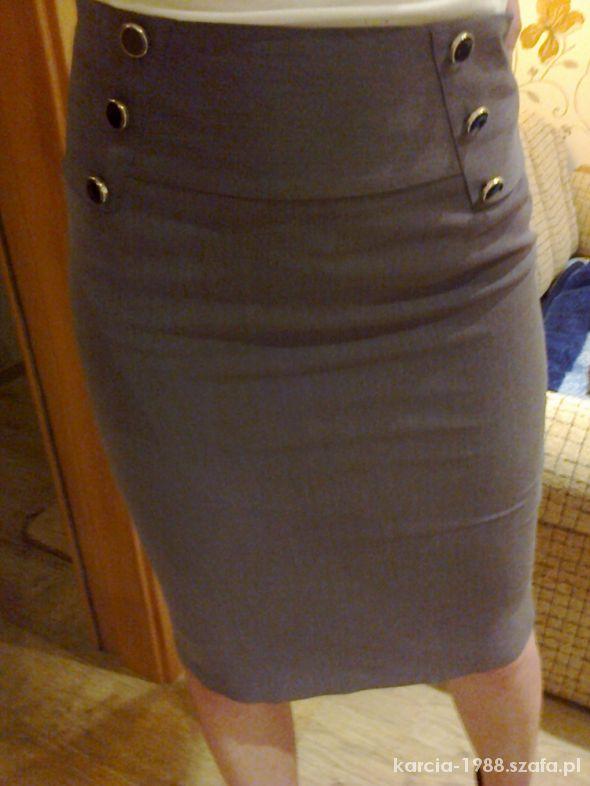 Spódnice elegancka ołówkowa spódnica wysoki stan