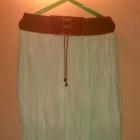 Długa MIĘTOWA spódnica na gumce