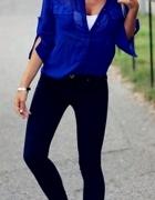 Kobaltowa koszula mgiełka