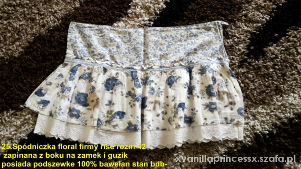 Spódnice Spódniczka floral firmy rise rozm 42