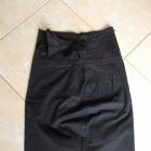 czarna sexi spódnica ołówkowa