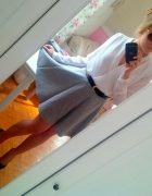 Szara spódnica z pianki...