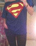 kobaltowy oversize off shoulders Superman