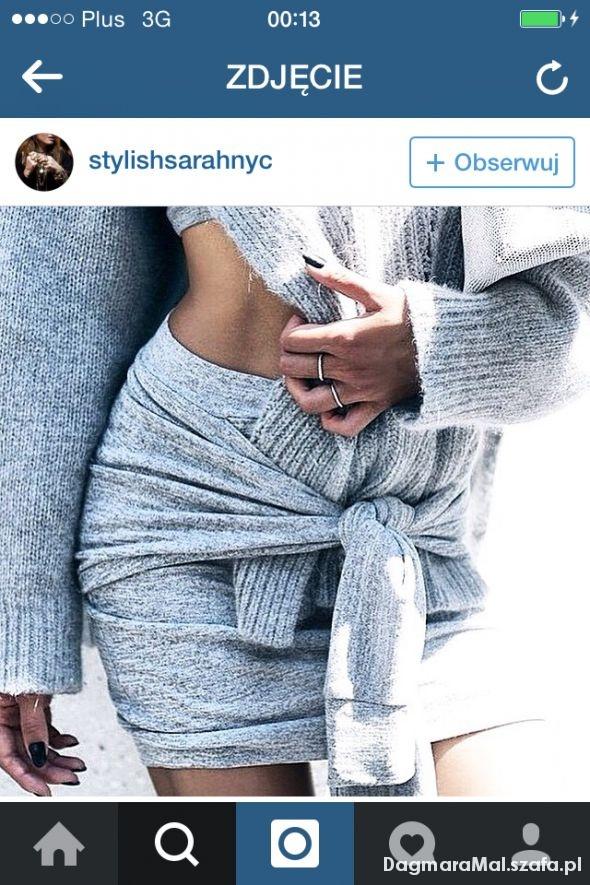 Spódnice nietypowa spodnica jak bluza dresowa szara XS S