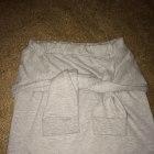 nietypowa spodnica jak bluza dresowa szara XS S