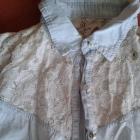 jeansowa bluzeczka z koronką