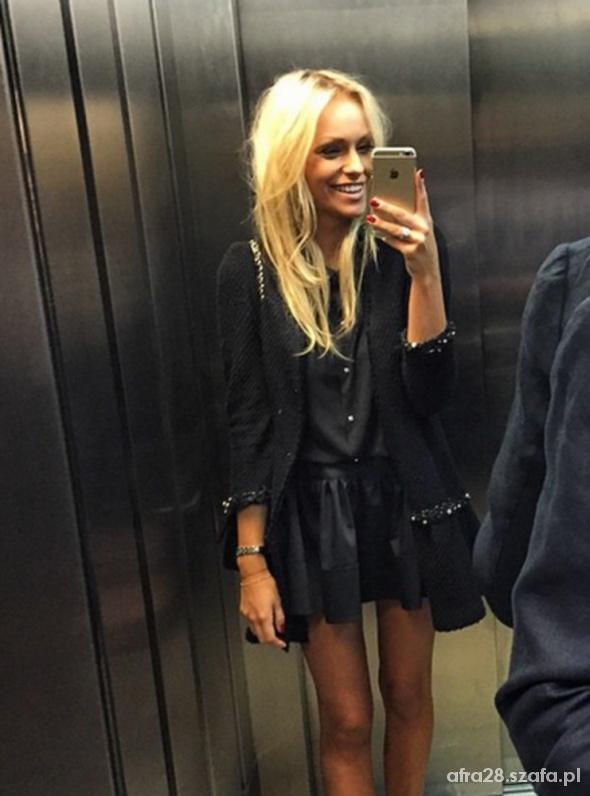 płaszcz czarny zara damski