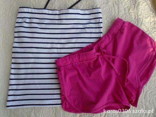 Spódnice Spódnica w paski plus różowe spodenki