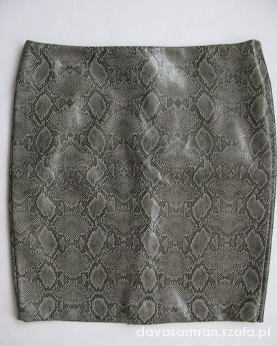 Spódnice Spódnica z wężowej skóry wężowa skróla roz 40 L