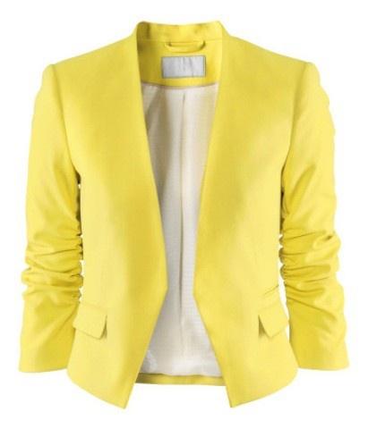 żółty żakiet H&M