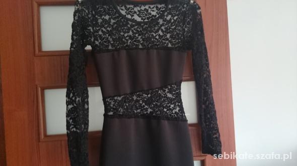 Sukienka czarna koronka jak nowa