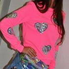 Designerska bluza serca PINK róż by XF