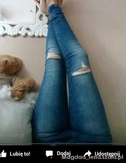 rurki jeans dziury s szukam...