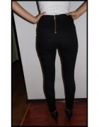 Spodnie złoty zip z tyłu czarne...