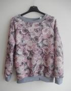bluza pikowana kwiaty