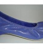 Odjazdowe kobaltowe balerinki r 38