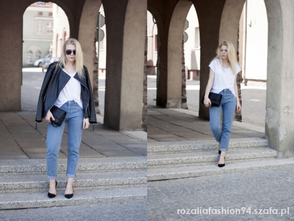 Blogerek White top & denim pants