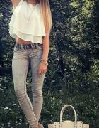 Elegancka zwiewna bluzeczka biała lub ecru