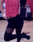 szyfonowa bluzeczka czarna spodniczka czrne lity...