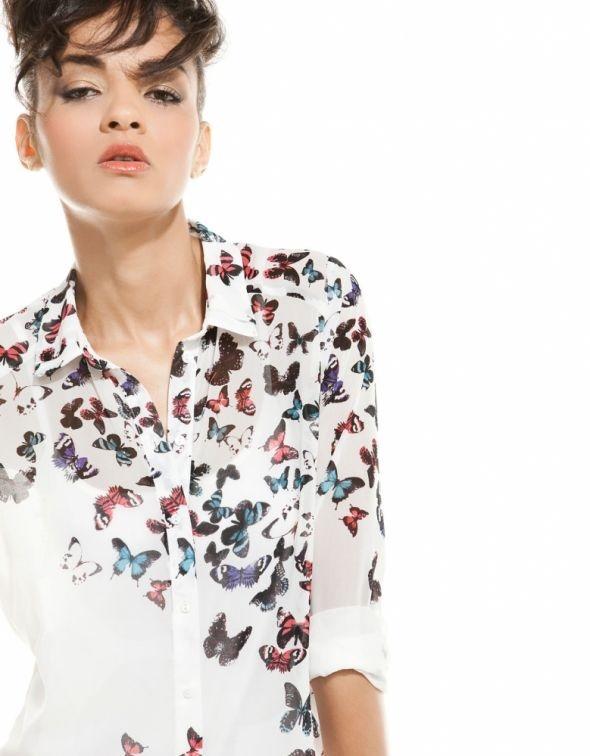 koszula w motyle bershka