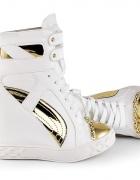 Boskie złoto białe sneakersy